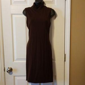Brown Mockneck Dress